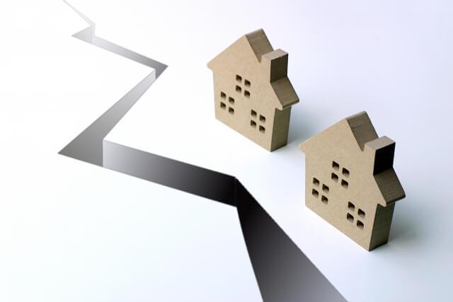 災害の模型