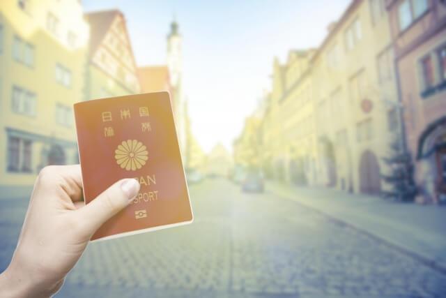 外国の風景とパスポート