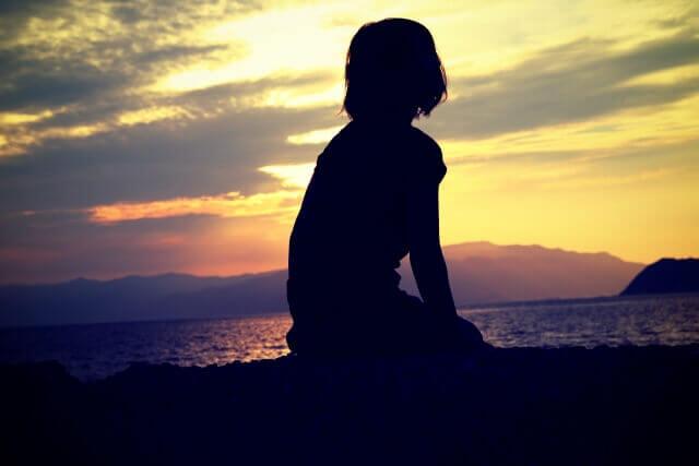 失恋を癒す女性